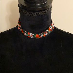 Embroidered festival necklace!